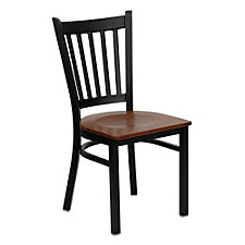 Jackson Wood Seat Vertical Slat Back Cafe Chair , CH51488