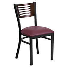 Jackson Vinyl Seat Horizontal Cutout Back Cafe Chair , CH51495
