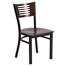 Jackson Wood Seat Horizontal Cutout Back Cafe Chair , CH51496