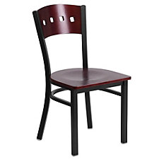 Jackson Wood Seat Square Cutout Back Cafe Chair , CH51497