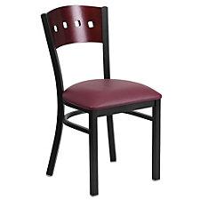Jackson Vinyl Seat Square Cutout Back Cafe Chair , CH51498