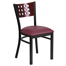 Jackson Vinyl Seat Square Punch Back Cafe Chair , CH51499