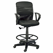 Salambro Jr Black Mesh Back Drafting Chair, CH04053