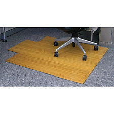 """Standard Bamboo Chair Mat, 44"""" x 52"""" with Lip, 5mm Thick, CH04607"""