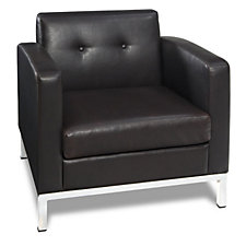 Wall Street Faux Leather Guest Chair, CH03327
