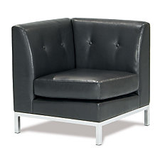 Wall Street Faux Leather Corner Chair, CH04085