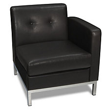 Wall Street Faux Leather Right Single Arm Chair, CH03344