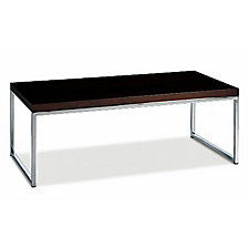 "44"" x 22"" Wall Street Wood Veneer Coffee Table, CH03535"
