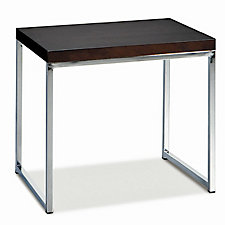 "22"" x 16"" Wall Street Wood Veneer End Table, CH03534"