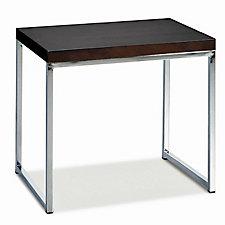 """22"""" x 16"""" Wall Street Wood Veneer End Table, CH03534"""