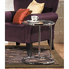 Yield Round Glass End Table, CH50203