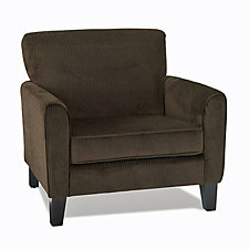 Sierra Corduroy Coffee Guest Arm Chair, CH04804