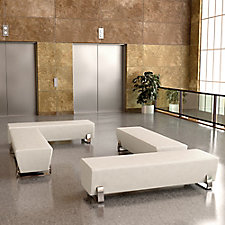 Axis Vinyl Four Bench Lobby Set, CH51835