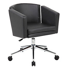 Metro Club Faux Leather Desk Chair, CH51610