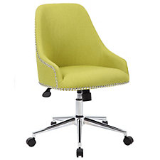 Contour Fabric Office Chair with Nailhead Trim , CH51295