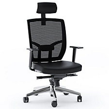 TC-223 Mesh Back Leather Seat Task Chair with Headrest, CH51620
