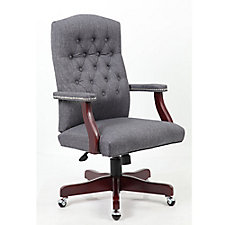 Widmore Button-Tufted Executive Chair in Fabric, CH51510