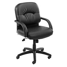Black Vinyl Mid Back Executive Chair, CH00171