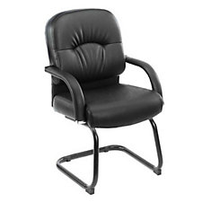 Black Vinyl Guest Chair, CH00173