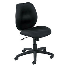 Locke Fabric Armless Mid-Back Computer Chair, CH04100