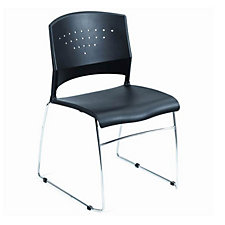 Black Polypropylene Stack Chair, CH03406