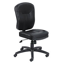 Linus Bonded Leather Armless Computer Chair, CH02600