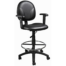 Vinyl Drafting Stool with Adjustable Arms, CH04829