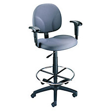 Fabric Drafting Stool with Adjustable Arms, CH00748