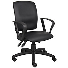 Faux Leather Task Chair with Loop Arms, CH51879