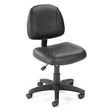 Sawyer Bonded Leather Lite Duty Armless Task Chair, CH00143