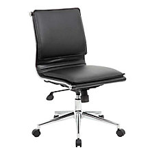 Armless Faux Leather Task Chair, CH51903