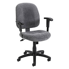 Mid Back Computer Chair with Adjustable Arms, CH00148