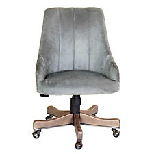 Armless Decorative Velvet Computer Chair, CH51904