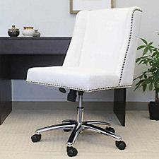 Velvet Armless Task Chair with Nail-head Trim, CH51910