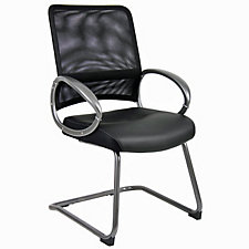 Hydra Bonded Leather Seat Mesh Back Guest Chair, CH04541