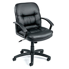 Burke Bonded Leather Mid-Back Computer Chair, CH00166