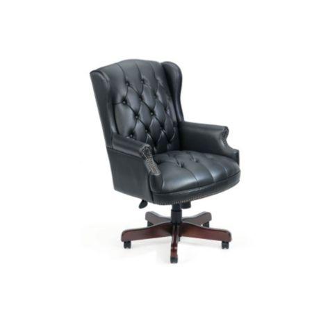 Widmore Queen Anne Vinyl Executive Chair