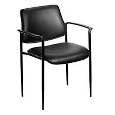 Stackable Black Vinyl Guest Chair, CH02620