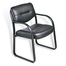 Dorrit Bonded Leather Sled Base Guest Chair, CH03411