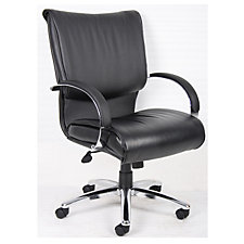 Mid Back Bonded Leather Chair with Chrome Frame, CH04264