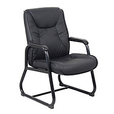 Athens Bonded Leather Sled Base Guest Chair, CH50918