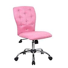 Tiffany Fabric or Vinyl Armless Task Chair, CH50987