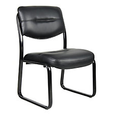 Dorrit Armless Bonded Leather Guest Chair, CH50992