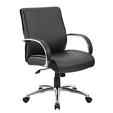 Peck Mid Back Conference Chair with Aluminum Arms, CH51228