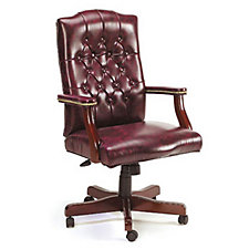 Widmore Traditional Tufted Vinyl Executive Chair, CH00221
