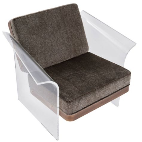 float faux fur acrylic lounge chair