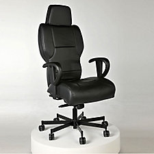 Genuine Leather 24/7 Intensive Use Executive Chair, CH50568