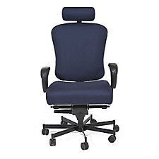Fabric 24/7 Intensive Use Ergonomic Chair with Headrest, CH50569