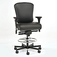 Genuine Leather 24/7 Intensive Use Ergonomic Stool, CH50580
