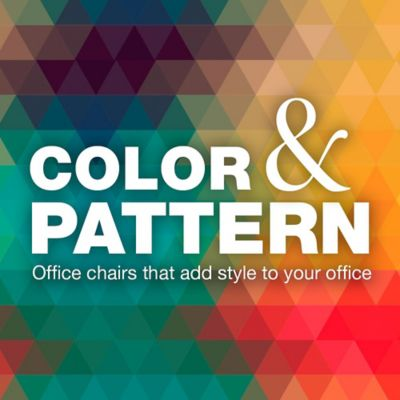 Using Color & Patterned Office Chairs to Add Style to Your Office
